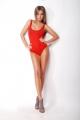 Юлия Ахонькова в красном купальнике